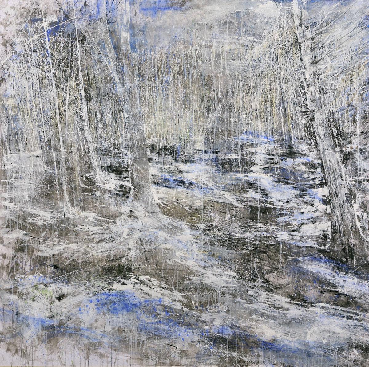 #2 Winterreise - 2020 grafite, fusaggine, pigmento, acrilico,olio su carta 150x150