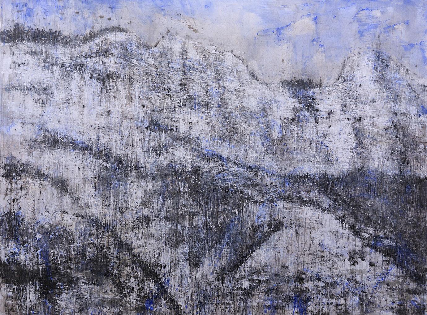 #3 Winterreise - 2020 grafite, fusaggine, pigmento, acrilico,olio su carta 150x200