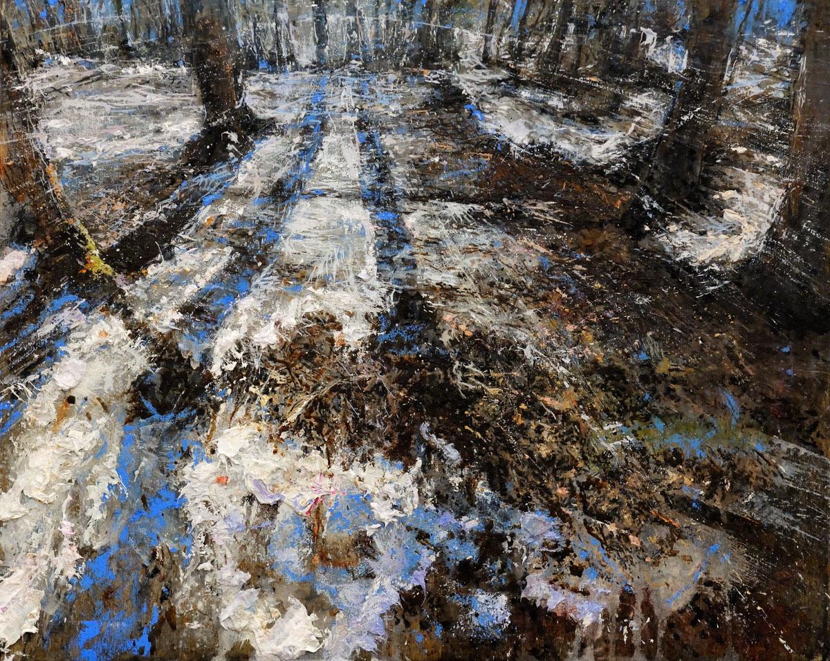 A514 Paesaggio d'inverno 2016 olio su tavola 40x50