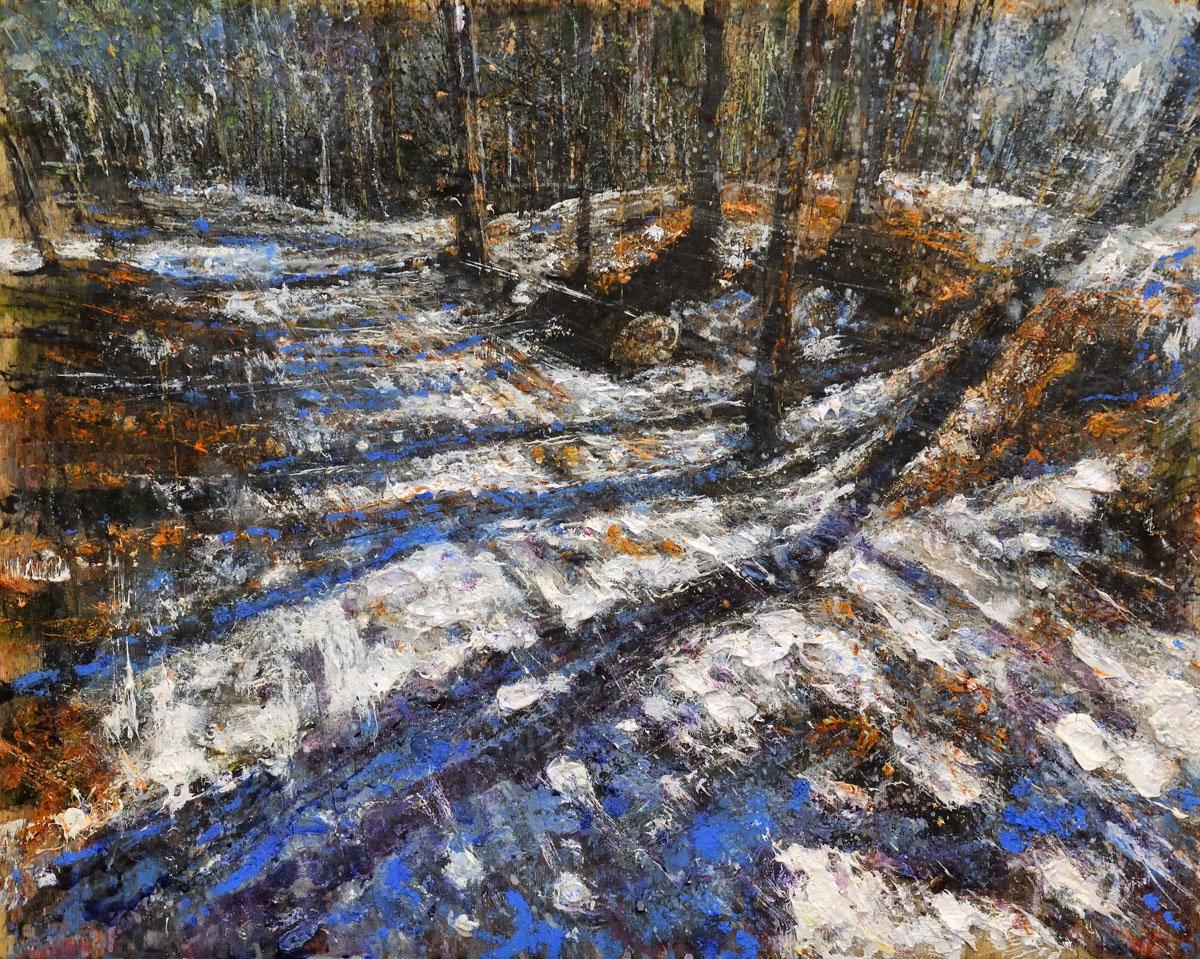 A515 Sentiero invernale 2016 olio su tavola 40x50